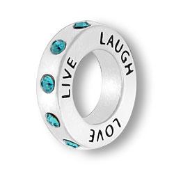 December Live Love Laugh Affirmation Ring Image
