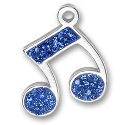 Blue Music Note Charm Image