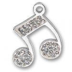 Crystal Music Note Charm Image