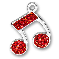 Red Music Note Charm Image