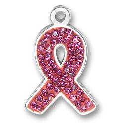 Crystal Pink Ribbon Charm Image