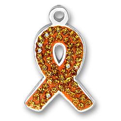 Orange Ribbon Charm Image