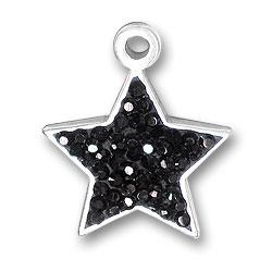 Black Star Charm Image