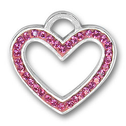 Pink Heart Charm Image