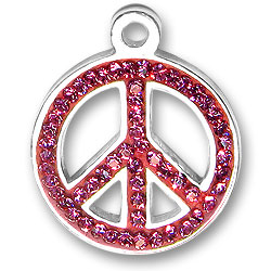 Pink Peace Sign Charm Image