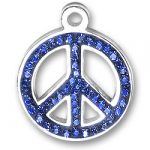 Blue Peace Sign Charm Image