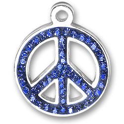 Blue Peace Sign Charm Image
