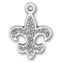 Crystal Fleur De Lis Charm Image