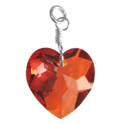 Red Magma Heart Charm Image