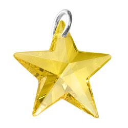 Yellow Crystal Star Charm Image