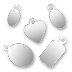 Sample Pack Of Silver Plated Jewelry Tags Image