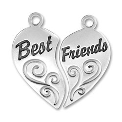 Two Piece Best Friends Charm Image
