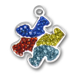 Crystal Puzzle Piece Charm Image