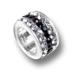 Black And White Crystal Bead Image