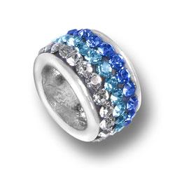Blue Fade Crystal Bead Image