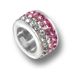 Pink Fade Crystal Bead Image