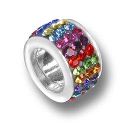 Multicolored Crystal Bead Image