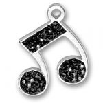 Black Crystal Music Note Charm Image