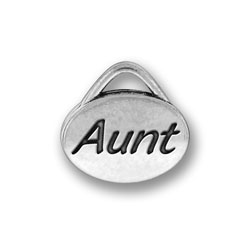 Pewter Aunt Oval Charm Image