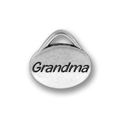 Pewter Grandma Oval Charm Image
