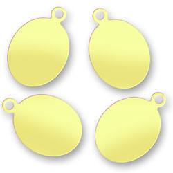 Blank Brass Oval Tags 88mm X 13mm Image