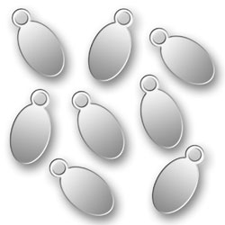 Blank Stainless Steel Oval Tags 45mm X 9mm Image