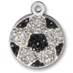 Pewter Crystal Soccer Ball Charm Image