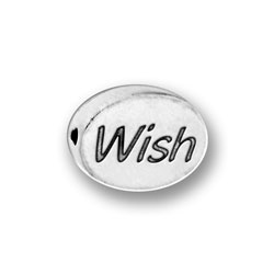 Pewter Wish Message Bead Image