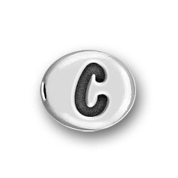 Round Pewter C Bead Image