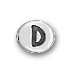 Round Pewter D Bead Image