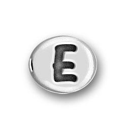 Round Pewter E Bead Image