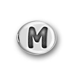 Round Pewter M Bead Image