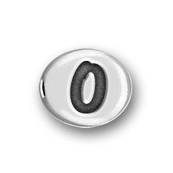 Round Pewter O Bead Image