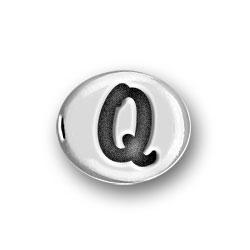 Round Pewter Q Bead Image