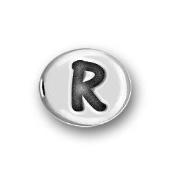Round Pewter R Bead Image