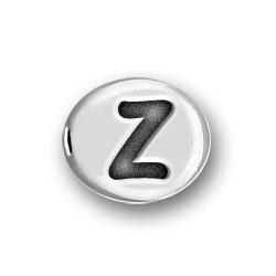 Round Pewter Z Bead Image