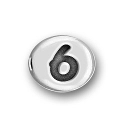 Round Pewter 6 Bead Image