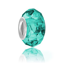 Blue Zircon Glass Bead Image