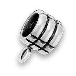 Pewter Three Rings Bead Image