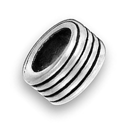 Pewter Bead With Lines Image