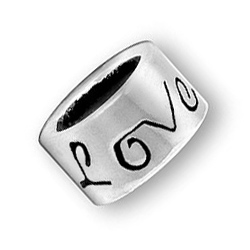 Pewter Love Bead Image