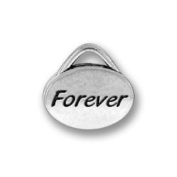 Pewter Forever Oval Charm Image