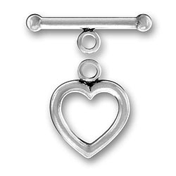 Pewter Heart Toggle And Bar Image