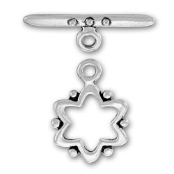 Pewter Flower Toggle And Bar Image
