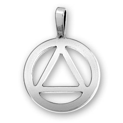 Pewter Triangle Pendant Image