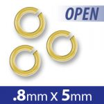 Brass Open Jump Ring 5mm Image