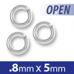 Silver Plated Open Jump Ring 5mm Image