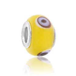 Yellow And Black Lampwork Glass Bead Image