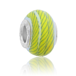 Green Design Lampwork Glass Bead Image