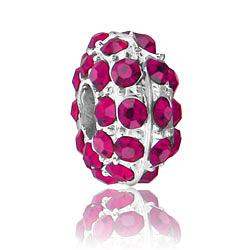 Fuchsia Rhinestone Bead Image
